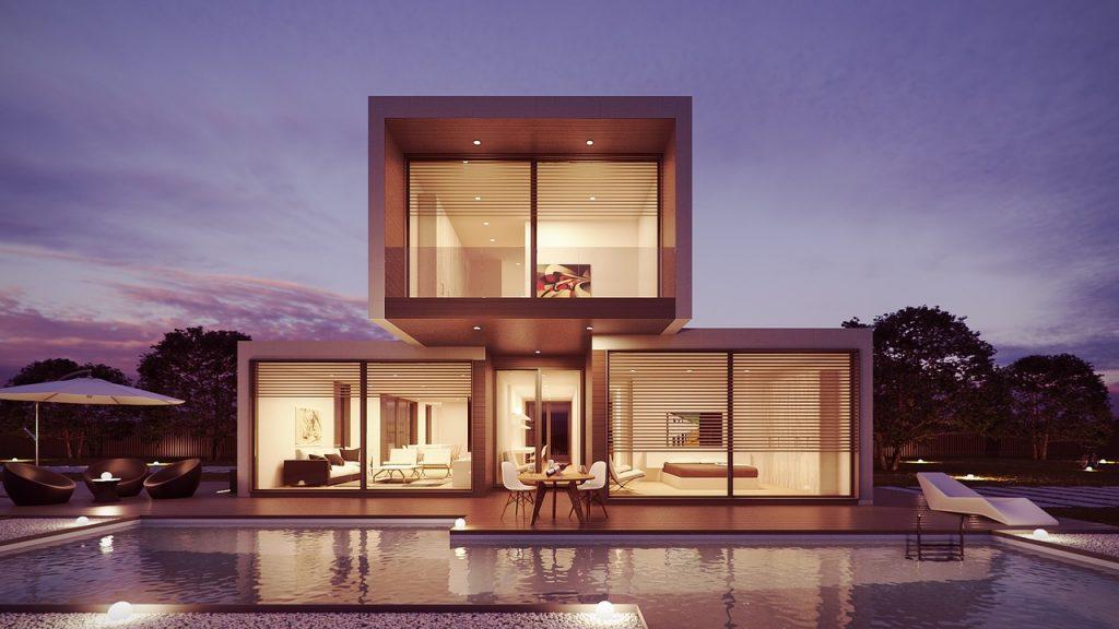 house, pool, interior design