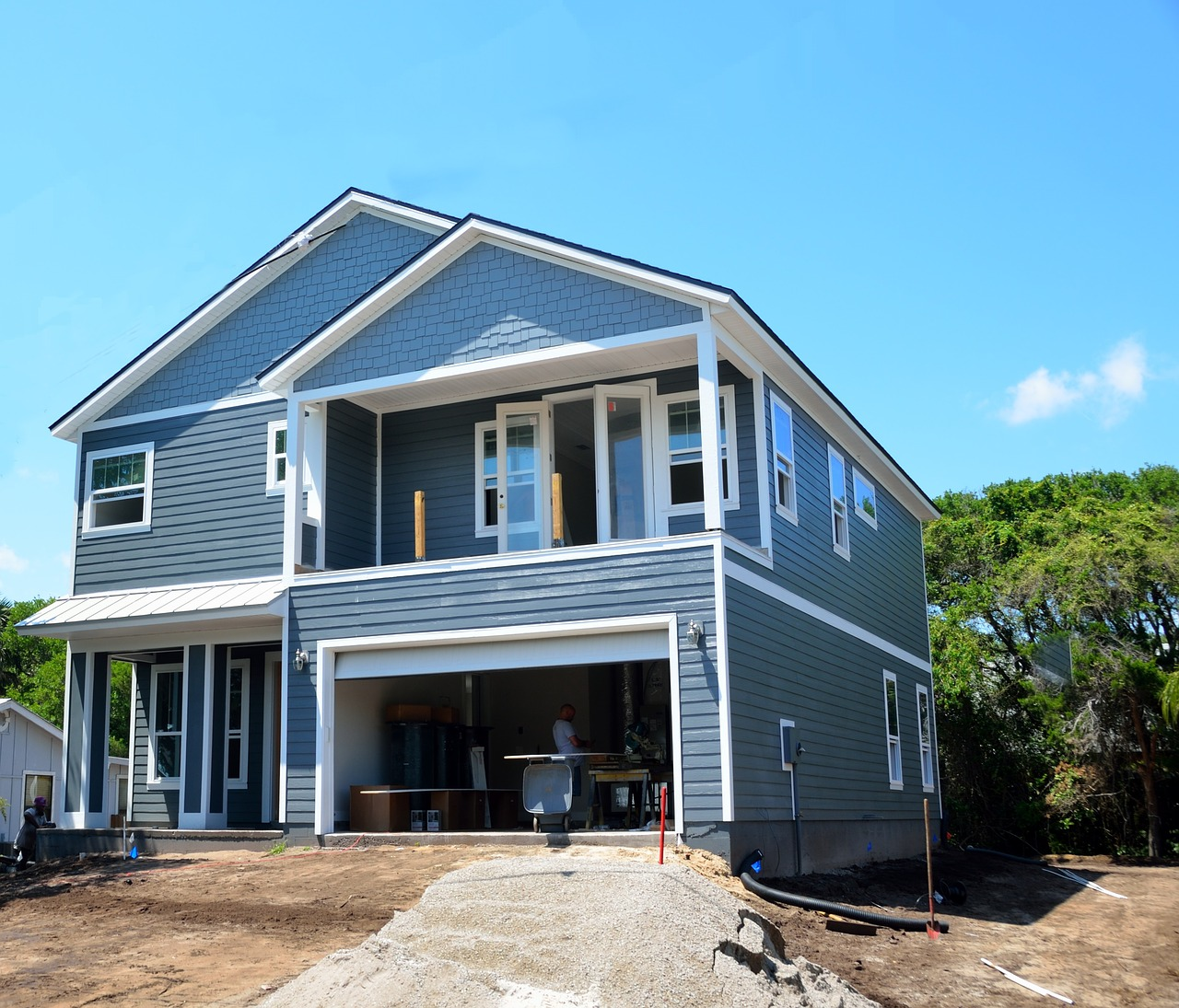 new home, construction, site